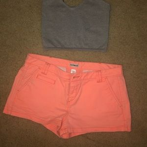 Express coral shorts size 6 NWOT